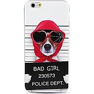 Недорогие Кейсы для iPhone 8 Plus-Кейс для Назначение Apple iPhone X iPhone 8 С узором Кейс на заднюю панель С собакой Слова / выражения Мягкий ТПУ для iPhone X iPhone 8