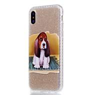 Назначение iPhone X iPhone 8 Plus Чехлы панели IMD С узором Задняя крышка Кейс для С собакой Сияние и блеск Мягкий Термопластик для Apple