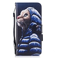 Case Kompatibilitás Samsung Galaxy S8 Plus S8 Kártyatartó Pénztárca Állvánnyal Flip Minta Mágneses Teljes védelem Cica Kemény Műbőr Bőr