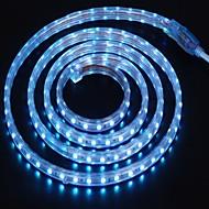2m 220v higt fényes LED szalag rugalmas 5050 120smd három kristály vízálló fény bár kerti lámpák EU hálózati csatlakozó