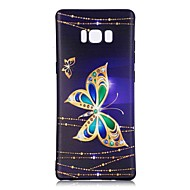 hoesje voor Samsung Galaxy Note 8 vlinder patroon achterkant zachte tpu hoesje