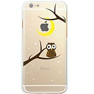 Недорогие Кейсы для iPhone 8-Кейс для Назначение Apple iPhone X iPhone 8 Ультратонкий Прозрачный С узором Кейс на заднюю панель дерево Сова Мягкий ТПУ для iPhone X