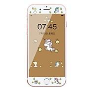 Недорогие Защитные плёнки для экрана iPhone-Защитная плёнка для экрана Apple для iPhone 6s iPhone 6 Закаленное стекло 1 ед. Защитная пленка на всё устройство 3D закругленные углы