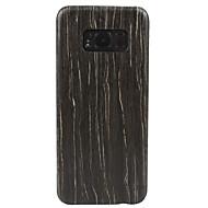 olcso Galaxy S tokok-Case Kompatibilitás Samsung Galaxy S8 Plus S8 Ultra-vékeny Hátlap Fa mintázat Kemény Fa mert S8 S8 Plus