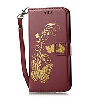Case Kompatibilitás Samsung Galaxy J7 (2017) J3 (2017) Pénztárca Kártyatartó Állvánnyal Flip Minta Mágneses Dombornyomott Teljes védelem