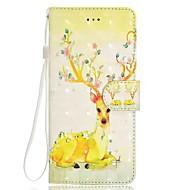 Недорогие Чехлы и кейсы для Galaxy Note 8-Кейс для Назначение SSamsung Galaxy Note 8 Бумажник для карт Кошелек со стендом Флип Магнитный С узором Чехол Животное Твердый Кожа PU для