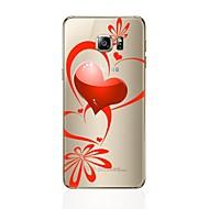 Недорогие Чехлы и кейсы для Galaxy S6 Edge Plus-Кейс для Назначение SSamsung Galaxy S8 Plus S8 Прозрачный С узором Кейс на заднюю панель С сердцем Мягкий ТПУ для S8 Plus S8 S7 edge S7