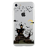 Für iPhone 7 iPhone 7 Plus Hüllen Cover Transparent Muster Rückseitenabdeckung Hülle Halloween Weich TPU für Apple iPhone 7 plus iPhone 7