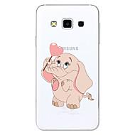 Кейс для Назначение SSamsung Galaxy A5(2017) A3(2017) Прозрачный С узором Задняя крышка Мультипликация Слон Мягкий Термопластик для A3
