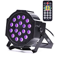 abordables Luces LED Para Escenarios-u'king zq-b194b-yk 18 * 1w leds color púrpura auto dmx sonido activado par etapa iluminación para discoteca fiesta club ktv boda