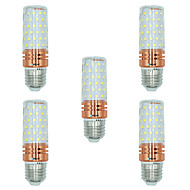 5pcs 16W E27 LED Corn Lights T 84 leds SMD 2835 Warm White White Dual Light Source Color 1300lm 3000-3500  6000-6500  3000-6500K AC