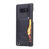Кейс для Назначение SSamsung Galaxy Note 8 Бумажник для карт Задняя крышка Сплошной цвет Твердый Искусственная кожа для Note 8
