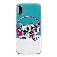 Недорогие Сегодняшнее предложение-Кейс для Назначение Apple iPhone X iPhone 8 Plus Сияние в темноте IMD С узором Кейс на заднюю панель С собакой Мягкий ТПУ для iPhone X
