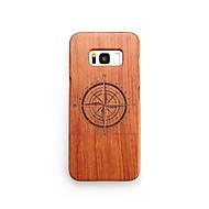 Недорогие Чехлы и кейсы для Galaxy S7-Кейс для Назначение SSamsung Galaxy S8 Plus S8 Защита от удара С узором Кейс на заднюю панель Геометрический рисунок Твердый деревянный