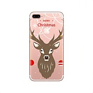 Case For Apple iPhone X iPhone 8 Ultra-thin Translucent Back Cover Christmas Soft TPU for iPhone X iPhone 8 iPhone 7 Plus iPhone 7 iPhone