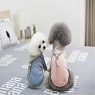 abordables Disfraces de Navidad para mascotas-Navidad Ropa para Perro Un Color Azul Rosa Algodón Disfraz Para mascotas Casual/Diario