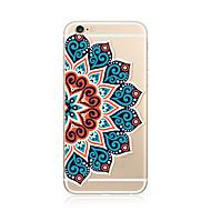 para la cubierta de la caja patrón transparente funda de la contraportada mandala soft tpu para apple iphone x iphone 8 plus iphone 8