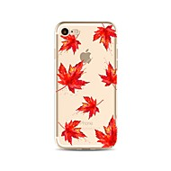 Недорогие Кейсы для iPhone 8-Кейс для Назначение Apple iPhone X iPhone 8 Прозрачный С узором Кейс на заднюю панель дерево Мягкий ТПУ для iPhone X iPhone 8 Pluss