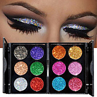 1pc 6 Colors Eyeshadow Palette Shimmer Eyeshadow palette Powder Cosmetic Makeup for Eye Makeup 2 Stysles for Selection