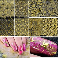 8 Stickers & Tapes Nail Sticker Foil Sticker Nail Decals Nail Art Tool