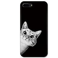 Недорогие Кейсы для iPhone 8 Plus-Кейс для Назначение Apple iPhone X / iPhone 8 С узором Кейс на заднюю панель Кот Мягкий ТПУ для iPhone X / iPhone 8 Pluss / iPhone 8