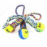 Juguete para Perro Juguetes para Mascotas Juguete Mordedor Pelota de tenis Algodón