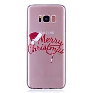 Кейс для Назначение SSamsung Galaxy S8 Plus S8 Прозрачный С узором Задняя крышка Слова / выражения Рождество Мягкий TPU для S8 S8 Plus S7