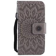 お買い得  iPod 用ケース/カバー-ケース 用途 iTouch 5/6 ウォレット カードホルダー スタンド付き フリップ エンボス加工 パターン 磁石バックル フルボディーケース PUレザー ハード