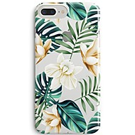 baratos Capinhas para iPhone8 Plus-Capinha Para Apple iPhone X iPhone 8 Ultra-Fina Transparente Estampada Capa traseira Flor Árvore Macia TPU para iPhone 8 Plus iPhone 8