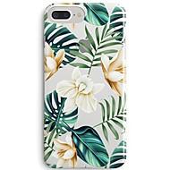 Недорогие Кейсы для iPhone 8 Plus-Кейс для Назначение Apple iPhone X iPhone 8 Ультратонкий Прозрачный С узором Кейс на заднюю панель Цветы дерево Мягкий ТПУ для iPhone 8