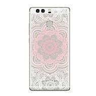 お買い得  携帯電話ケース-ケース 用途 Huawei社P9 / Huawei社P9ライト / Huawei社P8 クリア / パターン バックカバー 曼荼羅 / クリア ソフト TPU のために P10 Plus / P10 Lite / P10
