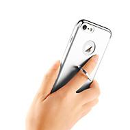Недорогие Кейсы для iPhone 8 Plus-Кейс для Назначение Apple iPhone X iPhone 8 Защита от удара Покрытие Кольца-держатели Кейс на заднюю панель Сплошной цвет Твердый ПК для