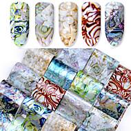 abordables Adhesivos para Uñas-16 pcs Consejos artificiales para uñas Adhesivos arte de uñas Manicura pedicura Diseños de Moda Moderno