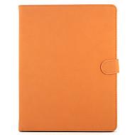 billige iPad-tilbehør-Etui Til Apple iPad 4/3/2 iPad Air 2 Med stativ Flip Auto Sove/Vågne Fuldt etui Helfarve Hårdt ægte læder for iPad 4/3/2 iPad Air 2 Apple