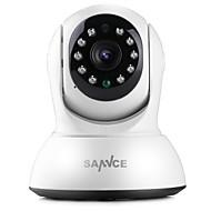 お買い得  -SANNCE 1.0 MP 屋内 with 赤外線カット 64(デイナイト モーション検出 リモートアクセス プラグアンドプレイ ワイファイ・プロテクテッド・セットアップ(WPS) IRカット) IP Camera