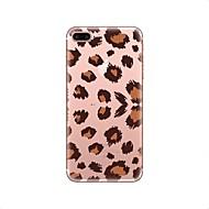Недорогие Кейсы для iPhone 8-Кейс для Назначение Apple iPhone X iPhone 8 Прозрачный С узором Кейс на заднюю панель Леопардовый принт Мягкий ТПУ для iPhone X iPhone 8
