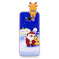 Недорогие Чехлы и кейсы для Galaxy S8-Кейс для Назначение SSamsung Galaxy S8 Plus S8 С узором Своими руками Кейс на заднюю панель Рождество 3D в мультяшном стиле Мягкий ТПУ для
