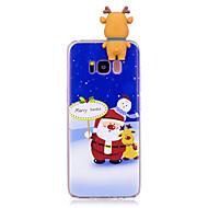 olcso Galaxy S7 Edge tokok-Case Kompatibilitás Samsung Galaxy S8 Plus S8 Minta DIY Fekete tok Karácsony 3D figura Puha TPU mert S8 Plus S8 S7 edge S7