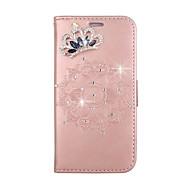 voordelige Galaxy A-serie hoesjes / covers-hoesje Voor Samsung Galaxy A5(2017) A3(2017) Portemonnee Kaarthouder Strass met standaard Flip Reliëfopdruk Patroon DHZ Volledige