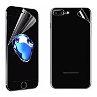 abordables Protectores de Pantalla para iPhone 8 Plus-Protector de pantalla para Apple iPhone 8 Plus PET 2 pcs Protector de Pantalla Posterior y Frontal Alta definición (HD) / Anti-Arañazos