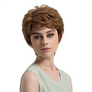 お買い得  -人工毛ウィッグ ストレート スタイル レイヤード・ヘアカット キャップレス かつら ブラウン ライトブラウン 合成 女性用 サイドパート ブラウン かつら ショート MAYSU ナチュラルウィッグ
