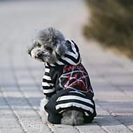 Pas Kaputi Hoodies Jumpsuits Dzsörzé Odjeća za psa Ležerno/za svaki dan Ugrijati Sportske Geometic Sive boje Crno Kostim Za kućne ljubimce