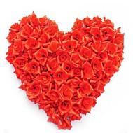 50pcs / çanta bezi el yapımı diy düğün ev dekorasyon çok kullanılmış yapay çiçek başı gül