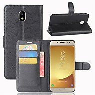 Case For Samsung Galaxy J7 (2017) J3 (2017) Wallet Card Holder Flip Full Body Solid Color Hard PU Leather for J7 (2017) J7 (2016) J7 J5