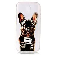 Недорогие Чехлы и кейсы для Galaxy J3-Кейс для Назначение SSamsung Galaxy J7 (2017) J5 (2017) Прозрачный С узором Кейс на заднюю панель С собакой Мягкий ТПУ для J7 (2017) J7