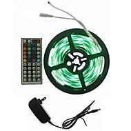 billiga -hkv® rgb led strip light 5050 3528 5m led ljus rgb ledd tejp diod ledd band flexibel mini ir controller adapter set