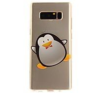 Недорогие Чехлы и кейсы для Galaxy Note-Кейс для Назначение SSamsung Galaxy Note 8 Note 5 Ультратонкий Прозрачный С узором Задняя крышка Мультипликация Мягкий TPU для Note 8