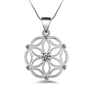 Women's Pendant Necklaces Snowflake Silver Plated Fashion European Jewelry For Other Daily