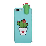 Недорогие Кейсы для iPhone 8-Кейс для Назначение Apple iPhone X / iPhone 8 Матовое Кейс на заднюю панель Цветы Мягкий ТПУ для iPhone X / iPhone 8 Pluss / iPhone 8