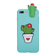 Кейс для Назначение Apple iPhone X iPhone 8 Матовое Задняя крышка Цветы Мягкий TPU для iPhone X iPhone 8 Plus iPhone 8 iPhone 7 Plus
